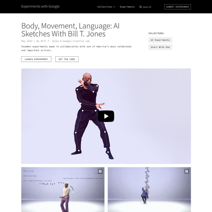 Body, Movement, Language: A.I. Sketches with Bill T. Jones