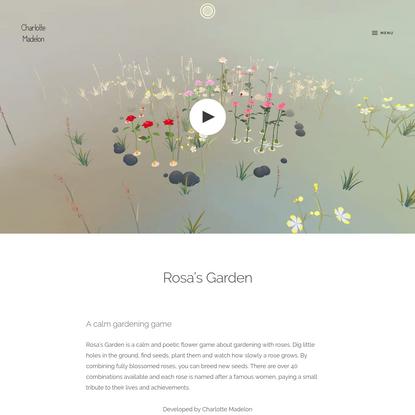 Rosa's Garden - Charlotte Madelon