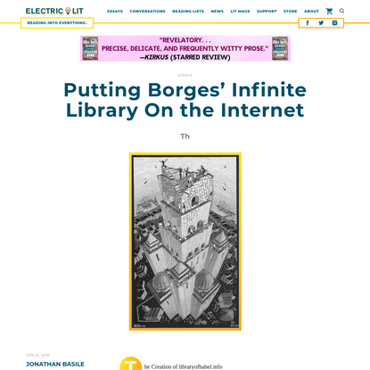 Putting Borges' Infinite Library On the Internet - Electric Literature