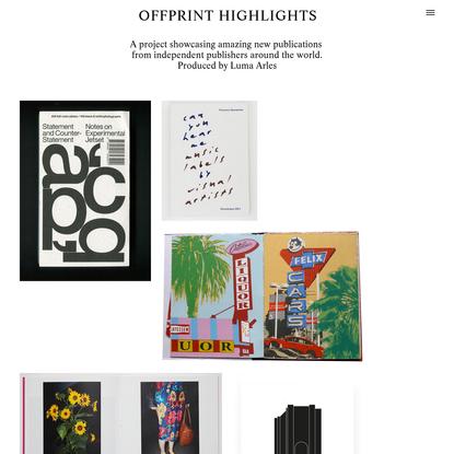 Offprint highlights
