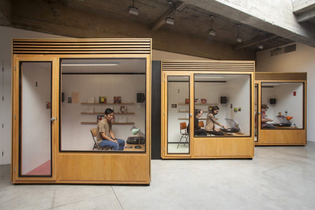 phil-collins-sound-installation-ten-7-inch-vinyl-records-listening-booths-turntables-amplifiers-and-speakers-2013..jpg