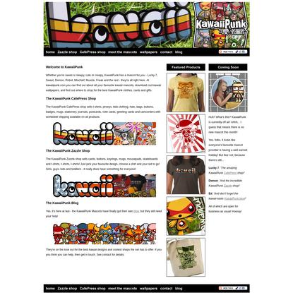 KawaiiPunk - Kawaii shop, clothes, stationery, mascots, wallpaper and blog