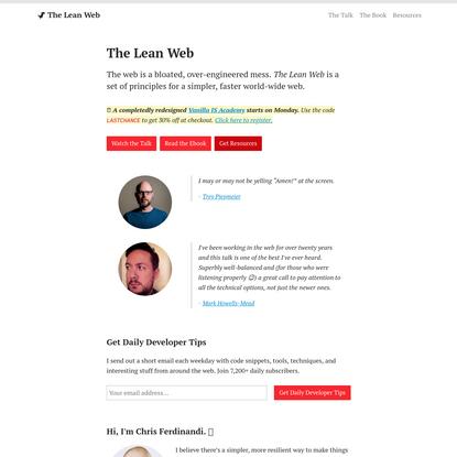 The Lean Web