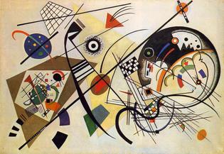 Transverse Line, by Wassily Kandinsky