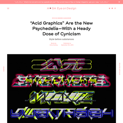 """Acid Graphics"" Are the New Psychedelia-With a Heady Dose of Cynicism"