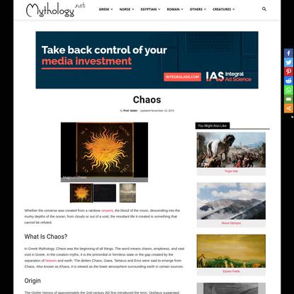 Chaos (Khaos) - Greek Cosmogony | Mythology.net