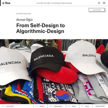 From Self-Design to Algorithmic-Design