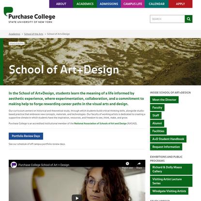 School of Art+Design