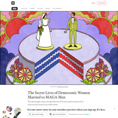 The Secret Lives of Democratic Women Married to MAGA Men