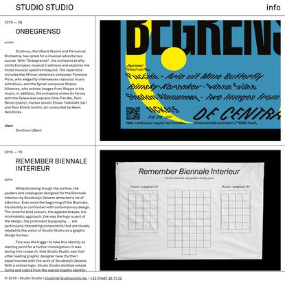 Studio Studio - Studio Studio