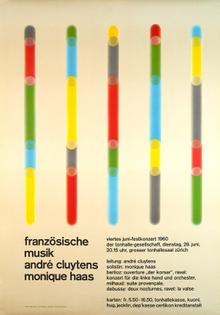 Poster for Tonhalle-Gesellschaft Zurich