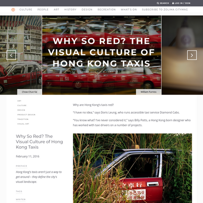 Why So Red? The Visual Culture of Hong Kong Taxis - Zolima City Magazine