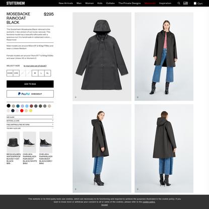 Stutterheim Mosebacke Black | Stutterheim™ USA