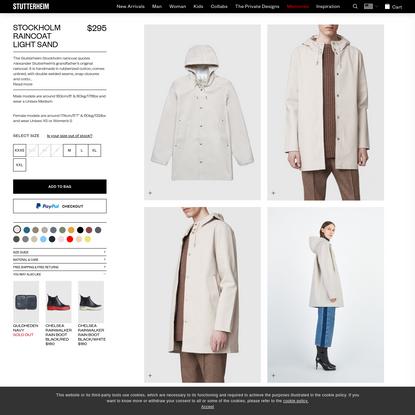 Stutterheim Stockholm Light Sand Raincoat | Stutterheim™ USA