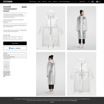 Ranarp Transparent Frost | Stutterheim™ USA