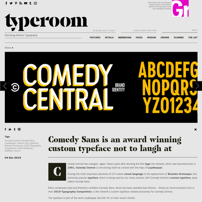 Comedy Sans is an award winning custom typeface not to laugh at