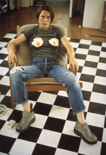 Sarah Lucas, Self Portrait with Fried Eggs, 1996