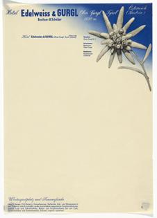 Herbert Bayer Hotel Edelweiss & Gurgl letterhead 1930s