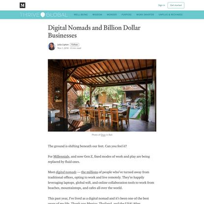 Digital Nomads and Billion Dollar Businesses