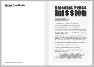 Diagonal Press Mission Statement by Tauba Auerbach