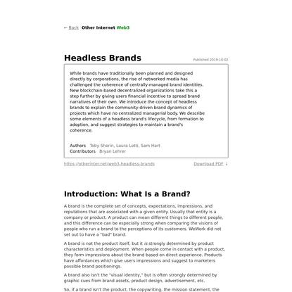 Headless Brands