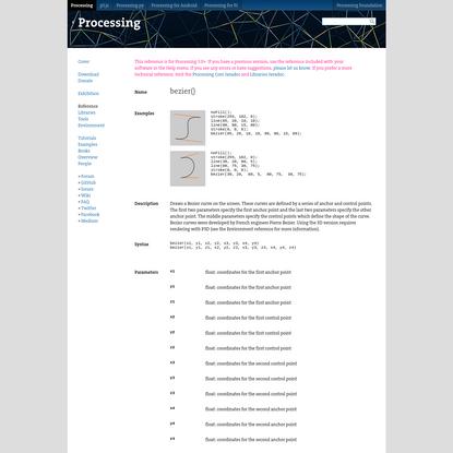 bezier() \ Language (API) \ Processing 3+