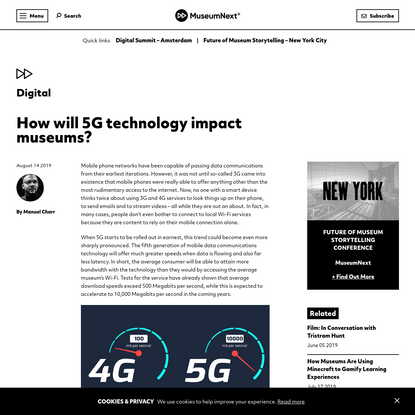 How will 5G technology impact museums?