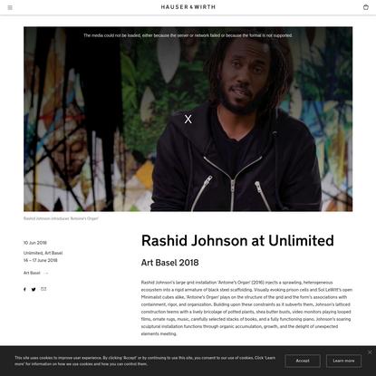 Rashid Johnson at Unlimited