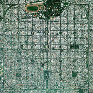 """The planned city of La Plata — the capital city of the Province of Buenos Aires, Argentina — is characterized by its strict, square grid pattern. At the 1889 World's Fair in Paris, the new city was awarded two gold medals in the categories ""City of the Future"" and ""Better Performance Built."" La Plata has a population of around 765,000 people."""
