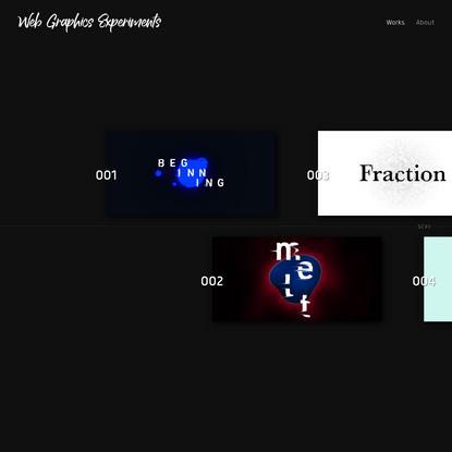 Web Graphics Experiments