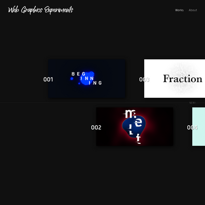 Web Graphics Experiments