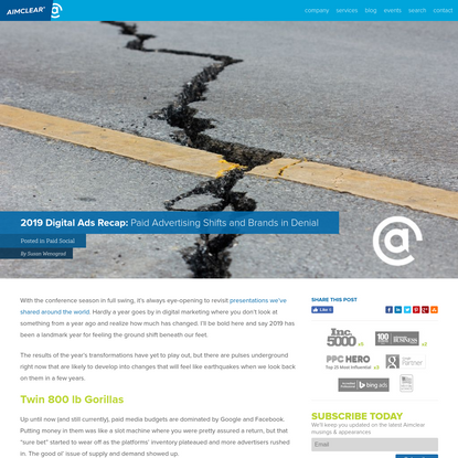 2019 Digital Ads Recap: Paid Advertising Shifts and Brands in Denial - Aimclear® Blog