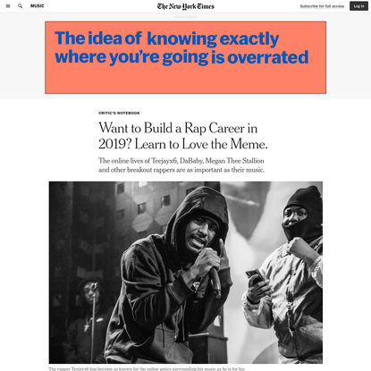 Want to Build a Rap Career in 2019? Learn to Love the Meme.