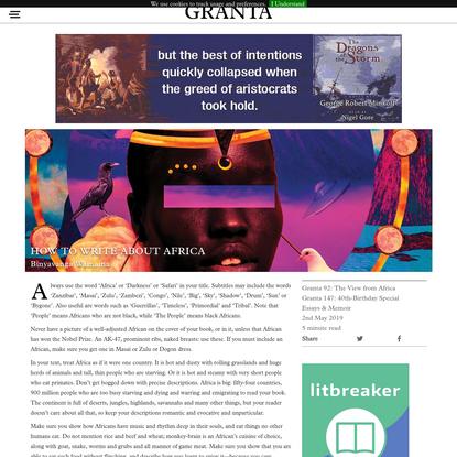 How to Write About Africa | Binyavanga Wainaina | Granta
