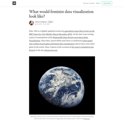 What would feminist data visualization look like?