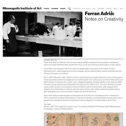 Ferran Adrià: Notes on Creativity