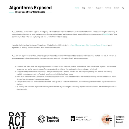 Algorithms Exposed - Break free of your filter bubble