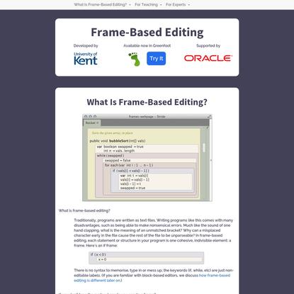 Frame-Based Editing