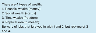 ––on wealth