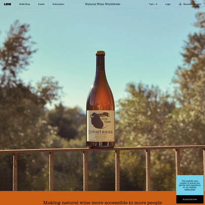 Low Intervention / Natural Wine Shop & Subscription