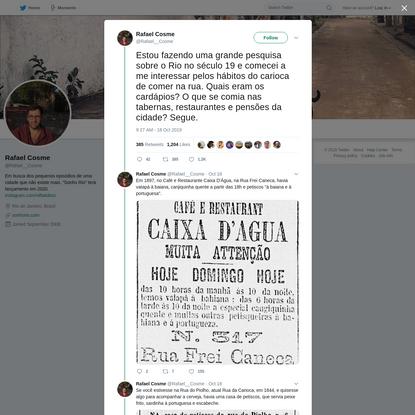 Rafael Cosme on Twitter