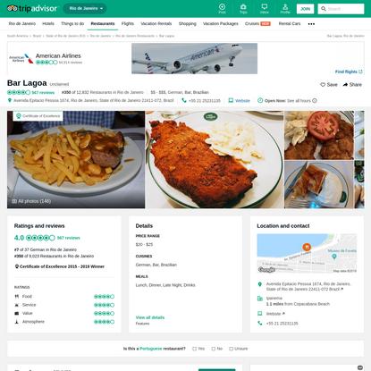 Bar Lagoa, Rio de Janeiro - Ipanema - Restaurant Reviews, Photos & Phone Number - TripAdvisor