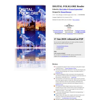 Digitale Folklore Reader