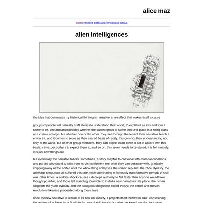 alien intelligences