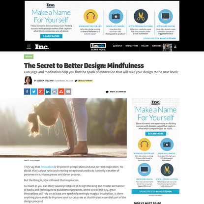 The Secret to Better Design: Mindfulness
