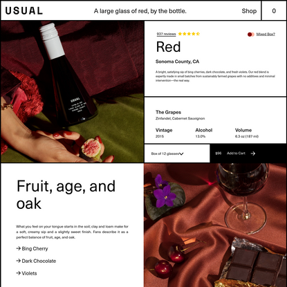 USUAL Red Blend - 12 Pack (187 ml/ 6.3 oz) – Usual