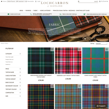 Fabric | From Classic Tartans to Designer Couture | Lochcarron of Scotland