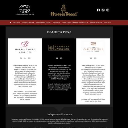 Harris Tweed - Find Tweed