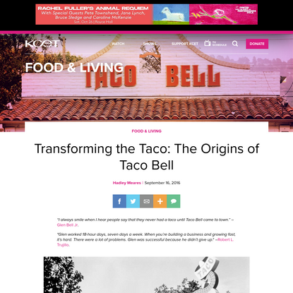 Transforming the Taco: The Origins of Taco Bell