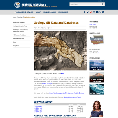Geology GIS Data and Databases | WA - DNR